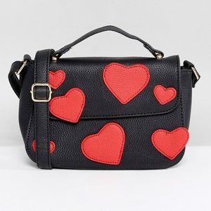 ASOS / Yoki Multi Heart Crossbody Bag
